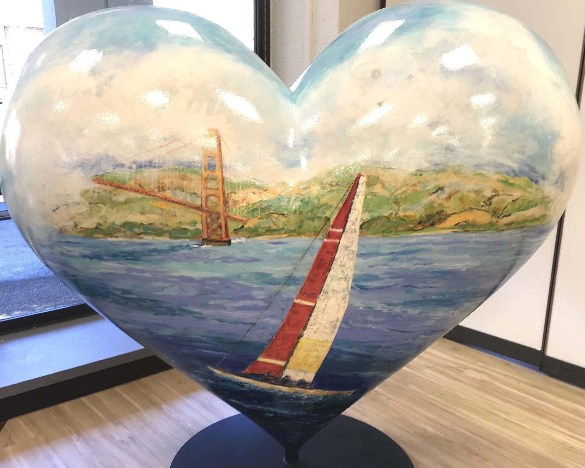 "Hearts of San Francisco - ""Sails of the Bay"" by Marius Starkey at Saint Francis Memorial Hospital"